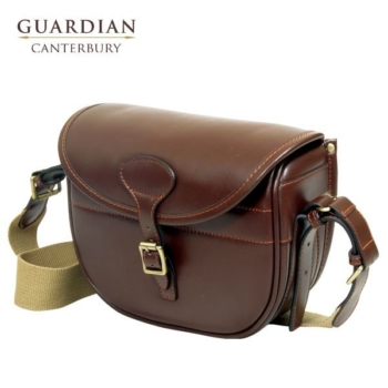 Guardian Canterbury Chestnut Leather Cartridge Bag
