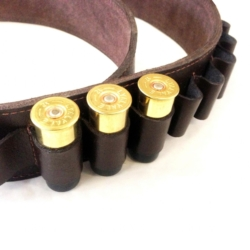 LEATHER CARTRIDGE BELT 12G Made In England