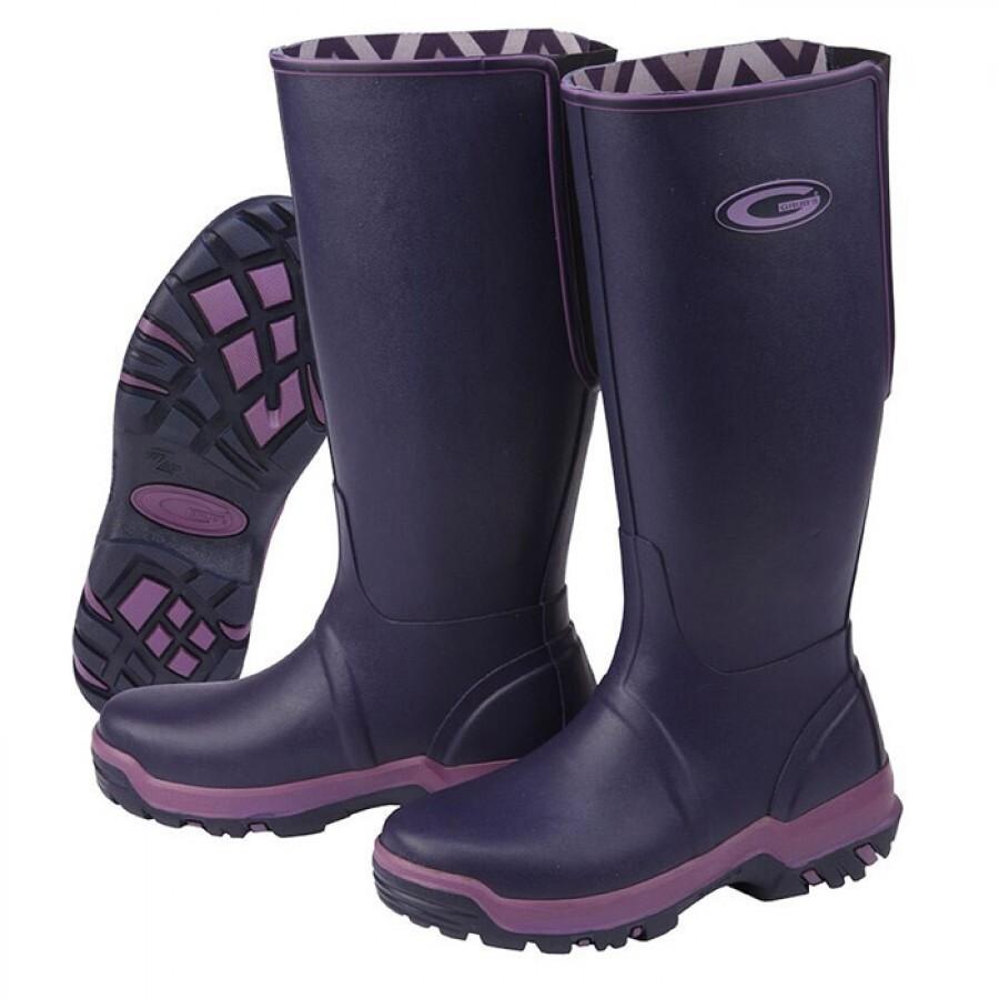 Grubs Rainline Wellington Boots - Aubergine