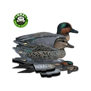 6 NRA FUD FOLDING GREEN WING TEAL DECOYS