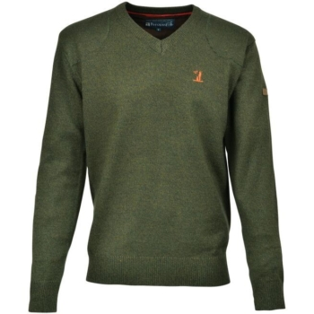 Percussion V-neck Hunting & Shooting Sweater - Khaki