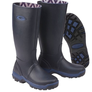 Grubs Rainline Wellington Boots In Navy