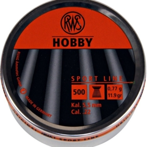 RWS Hobby Flathead .22 Pellets - Tin of 500
