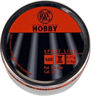 RWS Hobby Flathead .22 Pellets - Tin of 500