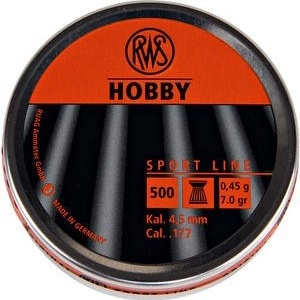RWS Hobby Flathead .177 Pellets - Tin of 500. Superb quality at a great price.