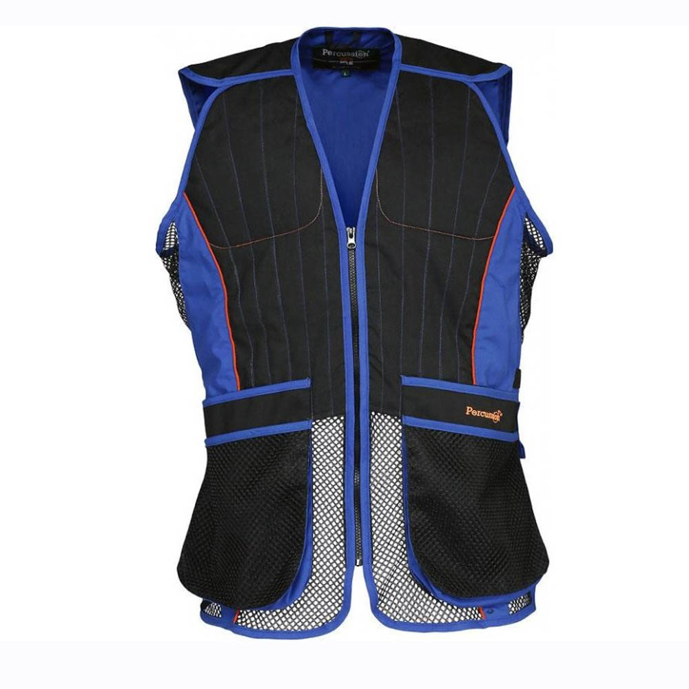 Percussion Skeet Clay Shooting Vest In Black and Blue