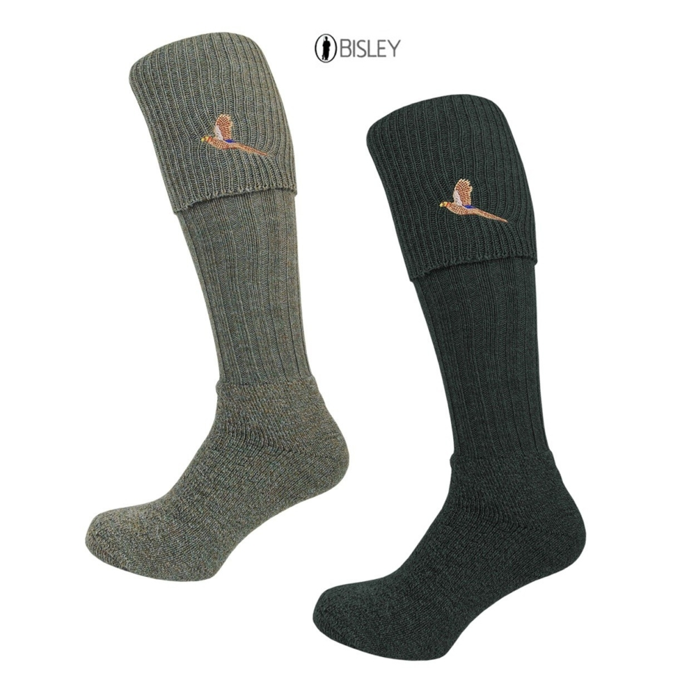 Bisley Pheasant Breek Socks in Tweed Traditional Shooting and Hunting Socks