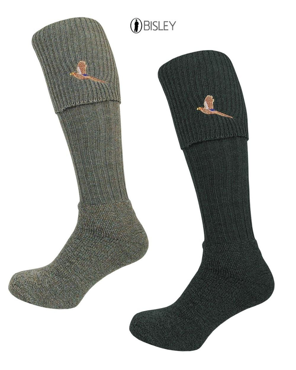 Bisley Pheasant Breek Socks in Tweed Traditional Shooting and Hunting Socks