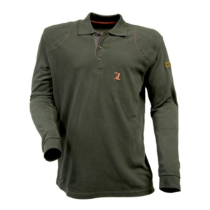 Percussion Long-Sleeve Polo Shirt - Khaki Green