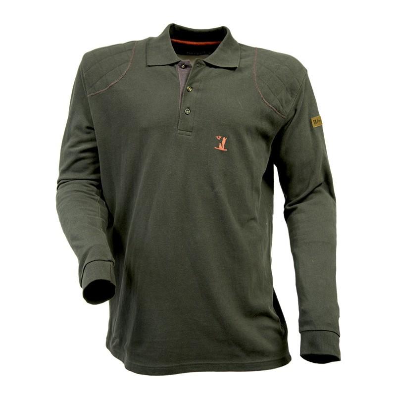 Percussion Long-Sleeve Polo Shirt - Khaki Green