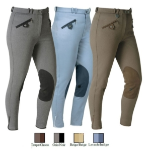 Nicolas Touzaint Ladies Irati Breeches In Blue/ Lavender