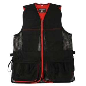 Percussion Skeet/Clay Shooting Vest In Black and Red