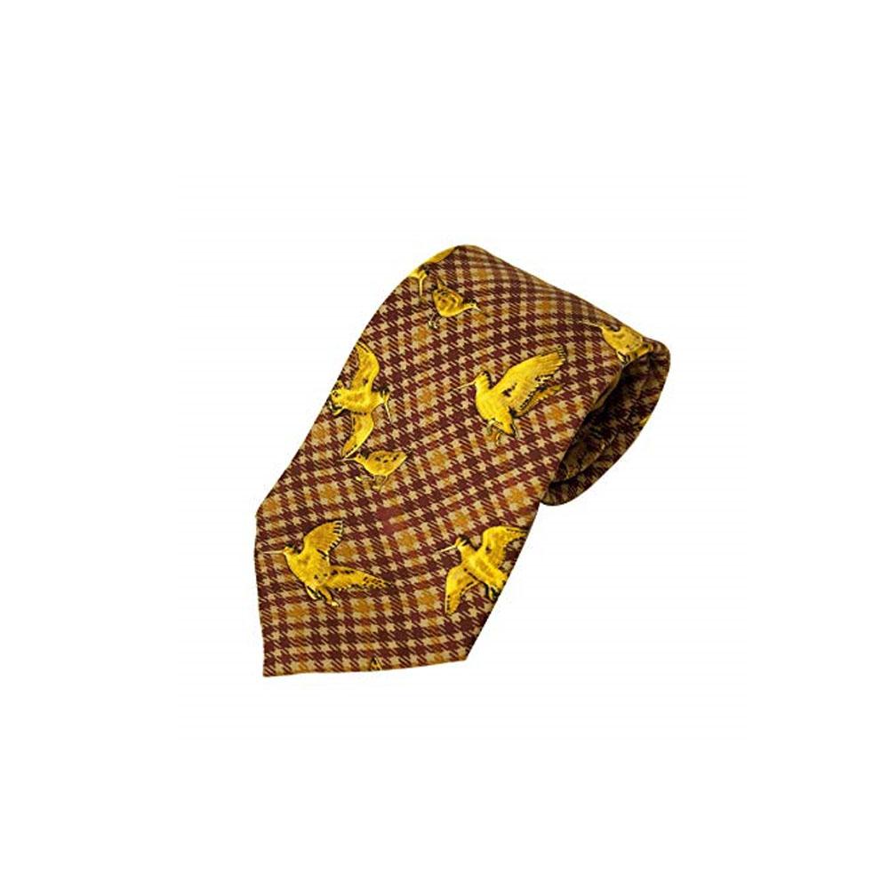 100% Silk Tie by Bisley – Brown Woodcock