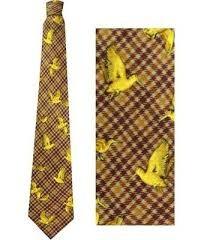 100% Silk Ties by Bisley - Brown Woodcock