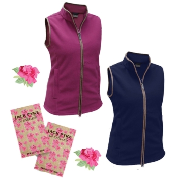 Jack Pyke Ladies Countryman Fleece Gilet - Burgandy or Navy