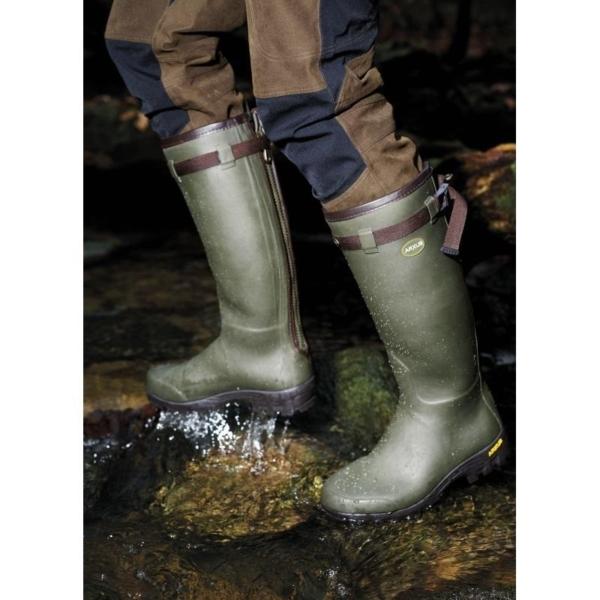Arxus Primo Nord Neoprene Zip Wellington Boots - Dark Olive