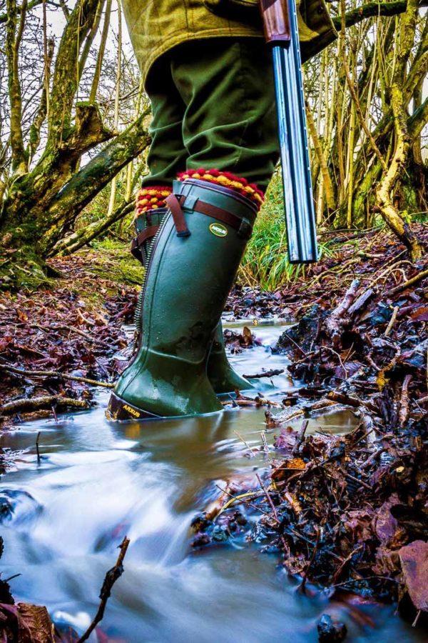 Arxus primo nord neoprene zip wellington boot dark olive