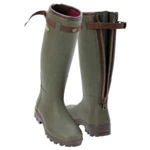 Arxus primo nord neoprene zip wellington boots in dark olive