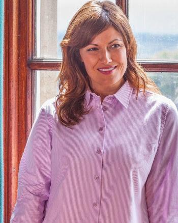 Hoggs Of Fife Bonnie Ladies Striped Long Sleeved Shirt