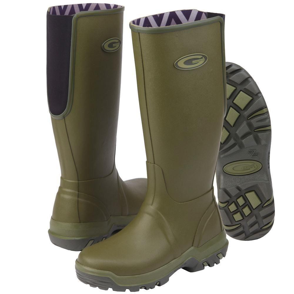 Grubs Rainline Sage Green Wellington Unisex Boots