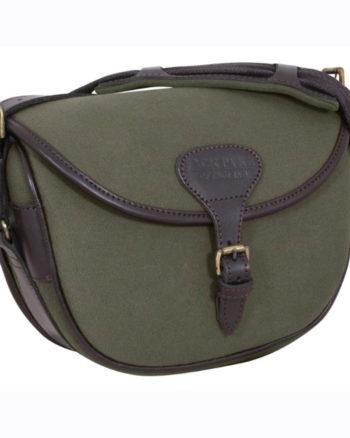 Jack Pyke Canvas 100 Cartridge Bag Green, Brown Fawn