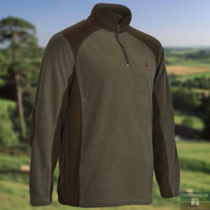 percussion half zip country fleece1