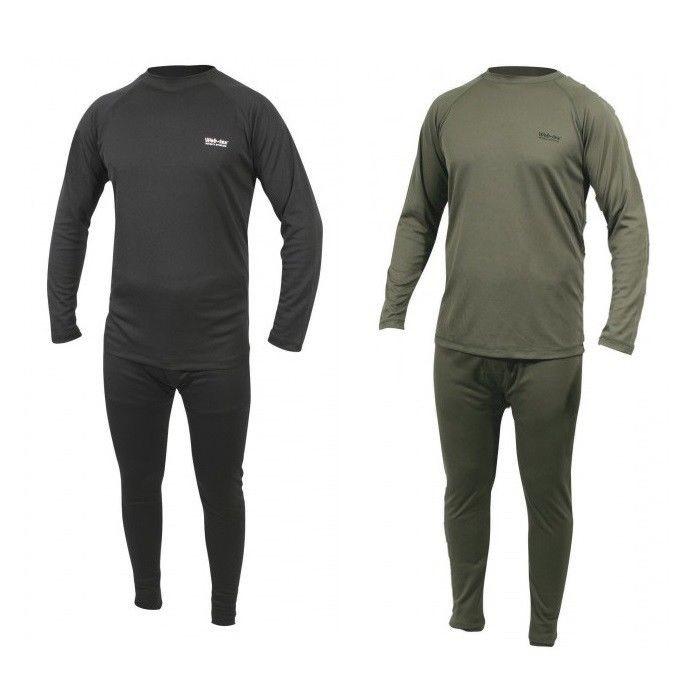 WEB-TEX BASE LAYER - olive green / black leggings / top army thermal underwear