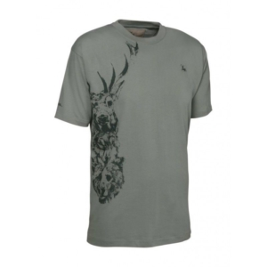Verney Carron Totem Short Sleeve T-Shirt Stag In Khaki