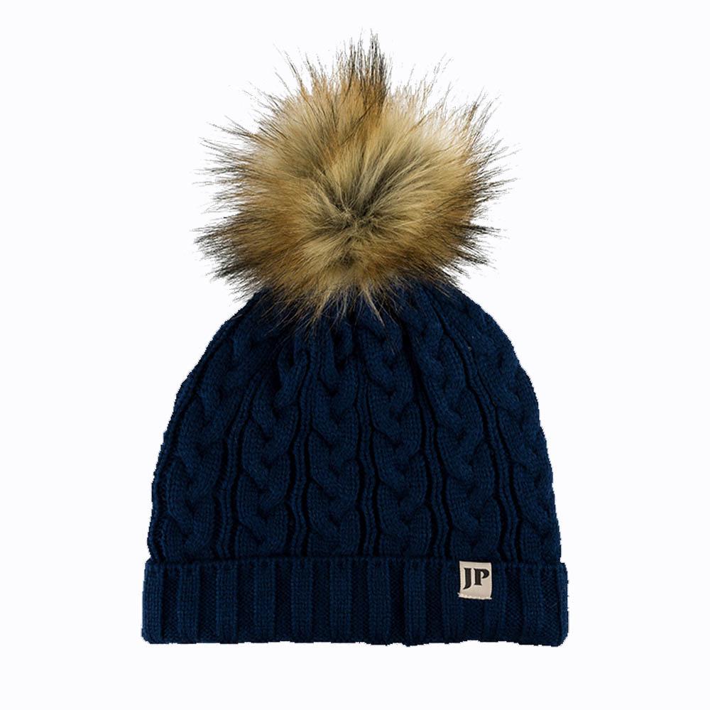 Jack Pyke Ladies Cable Knit Bob Hat blue