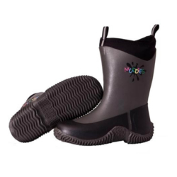 Grubs Muddies Icicle 5.0TM Children's Wellington Boots In Charcoal