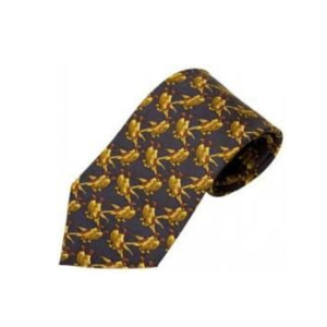 100% Silk Tie By Bisley – Navy Pheasants