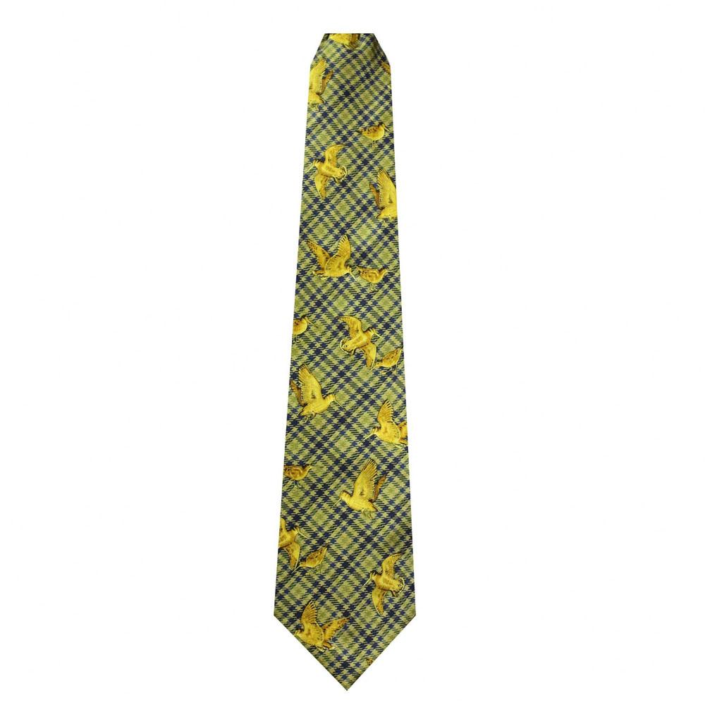 100% Silk Ties by Bisley – Green Woodcock