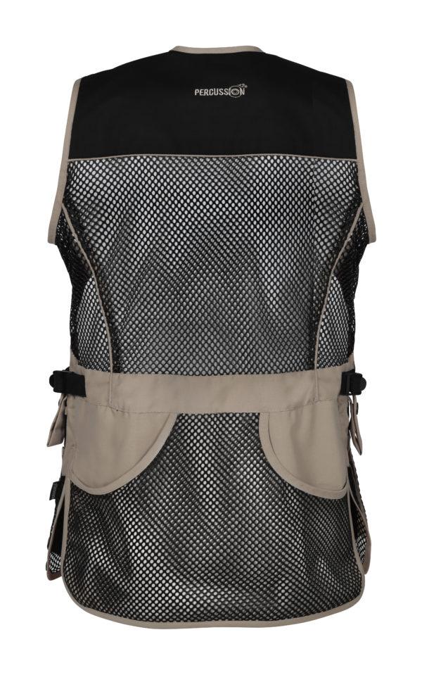 Percussion Skeet Vest in Black and Beige New 2019 back