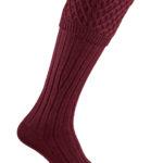 Pennine Chelsea Shooting Sock in Burgundy