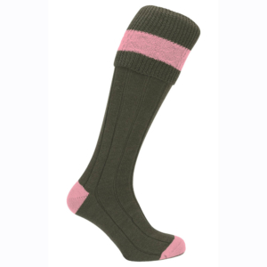 Pennine Byron Shooting Sock for Ladies in Pink