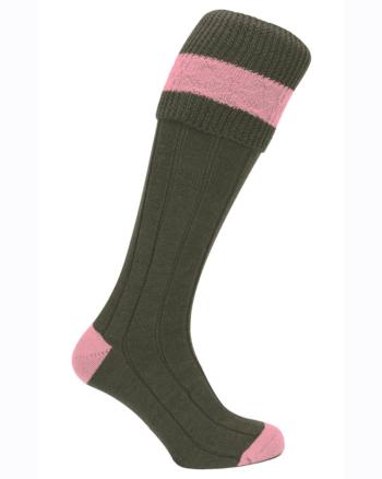 Pennine Byron Shooting Sock for Ladies in Pink
