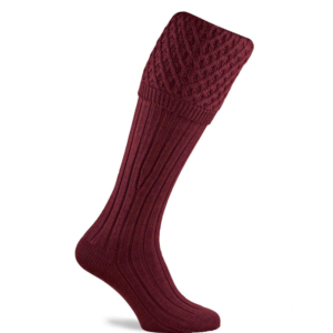 Pennine Chelsea Shooting Sock in Burgundy