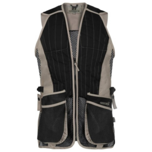 Percussion Skeet Vest Clay Shooting Vest Black and Beige NEW 2019