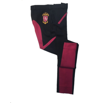 Sherwood Forest Two Tone Yield Jodhpurs In Dark Navy & Dark Raspberry