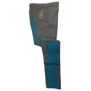 Sherwood Forest Two Tone Yield Jodhpurs In Melange Grey & Lake Blue