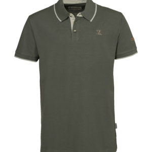 Percussion Short Sleeved Polo Shirt Olive