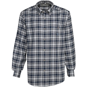 Percussion Tradition Checked shirt blue