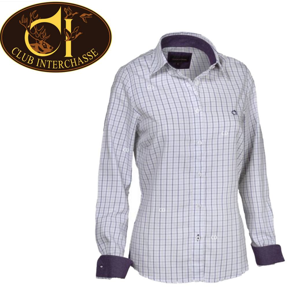 Club Interchasse Ladies Shirt Long Sleeve Nina -Purple