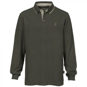 Percussion Long Sleeved Hunting Polo Shirt
