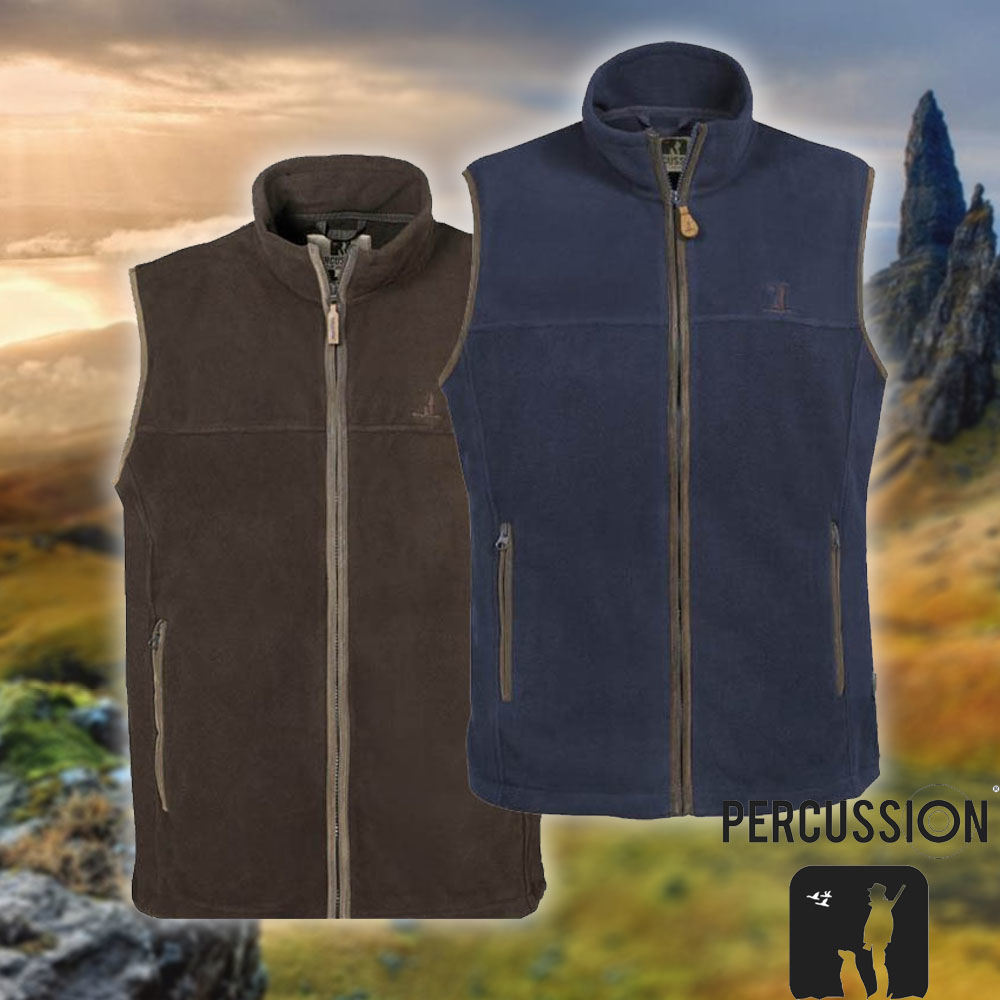 percussion scotland fleece vest gilet