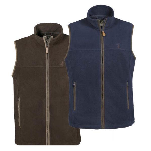 percussion scotland fleece vest