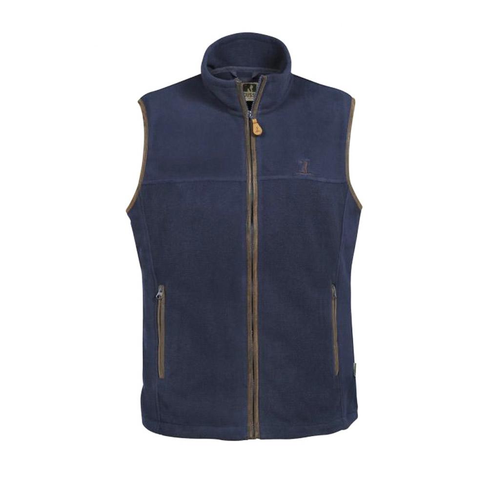 scotland fleece vest in blue