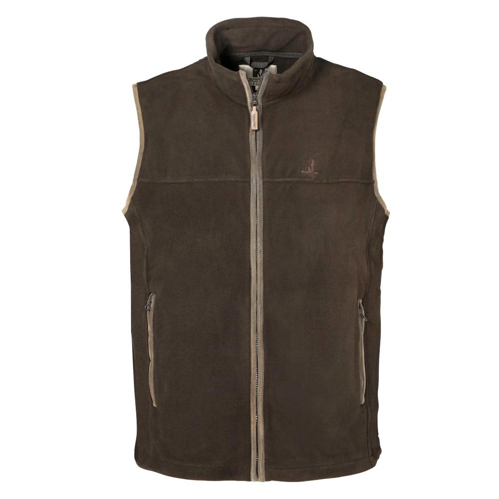 scotland fleece vest in chocolate