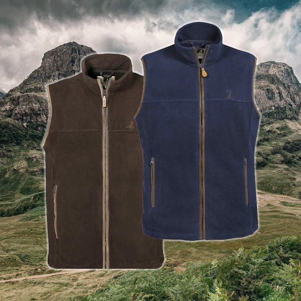 scotland fleece vest percussion