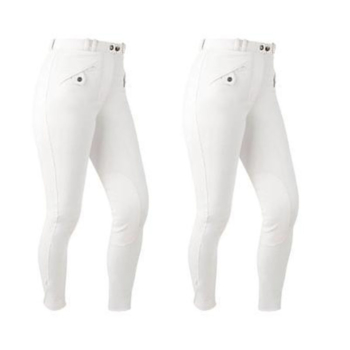 white amazone breeches 2 pairs
